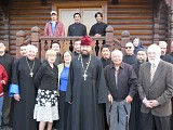 In front of All Saints of Alaska chapel on Kodiak campus 2010