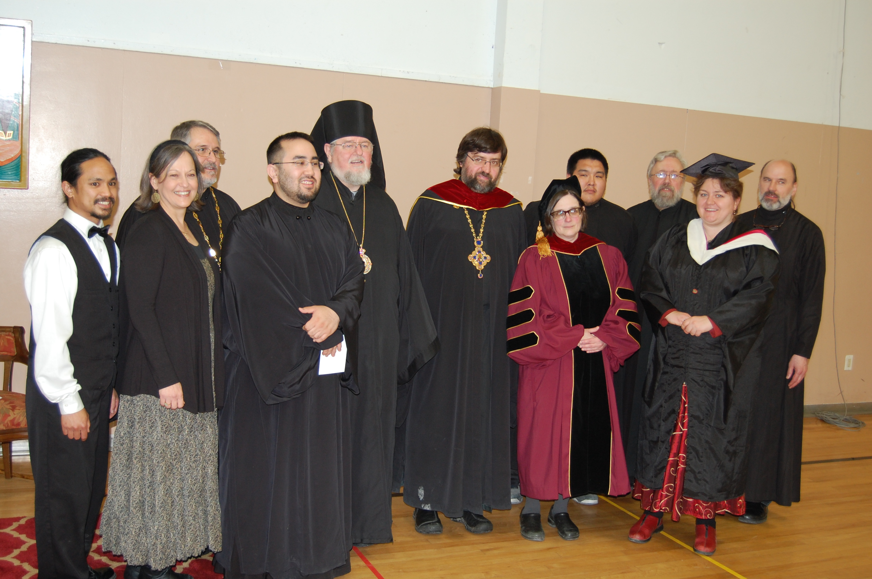 St. Herman's Faculty During the 2015 Graduation